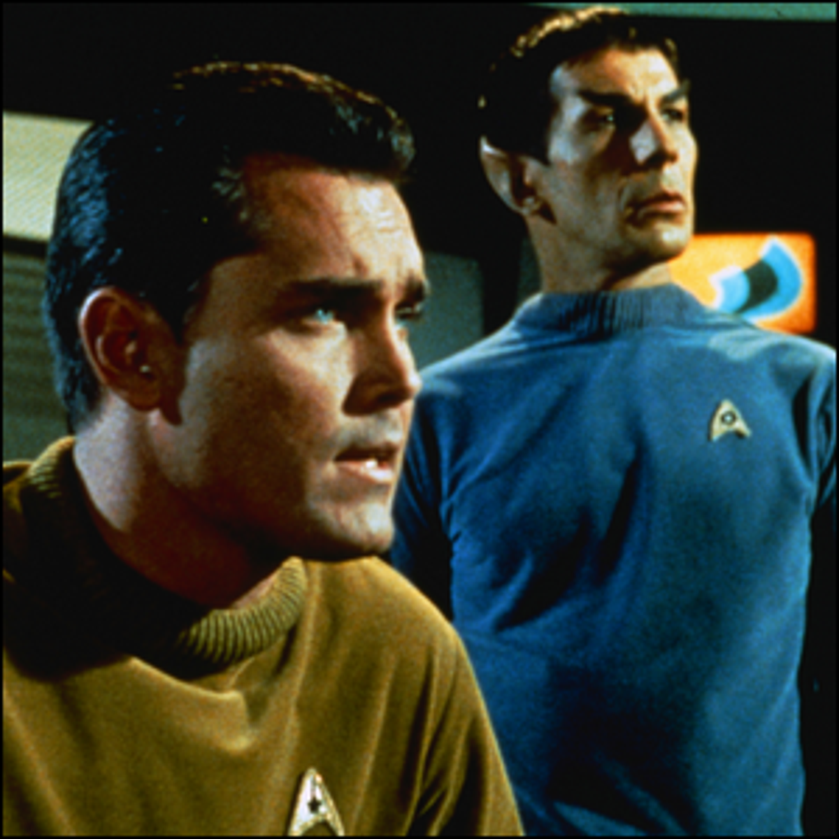 Leonard Nimoy starring as Mr. Spock in the first Star Trek pilot episode The Cage.