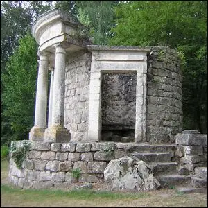 The Temple of Modern Philosophy in the Jean-Jacques Rousseau Park, Oise, France.