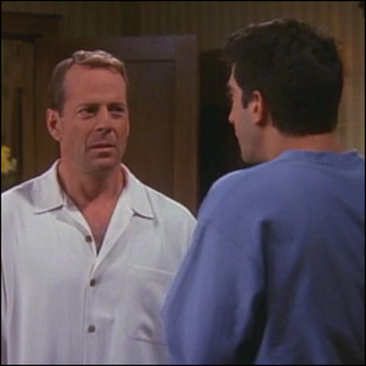 Bruce Willis' guest star appearance on the television show Friends.
