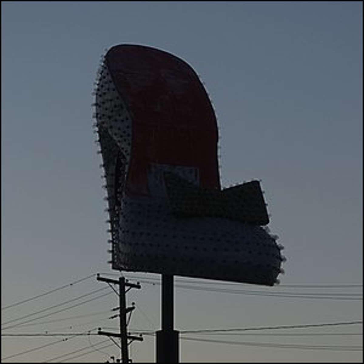 The Silver Slipper Casino's iconic sign now located at The Neon Museum in Las Vegas.