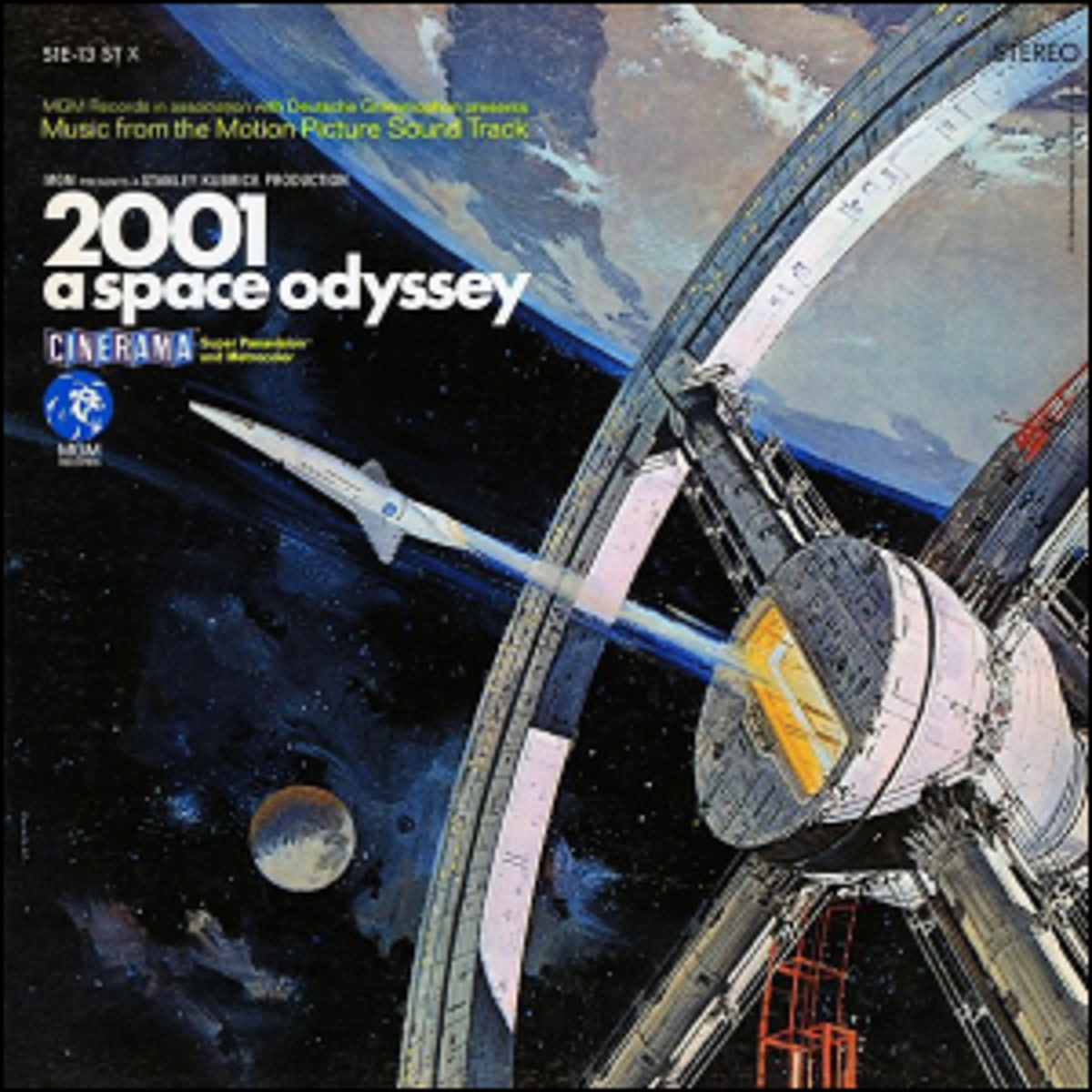 The cover artwork for the movie 2001: A Space Odyssey.