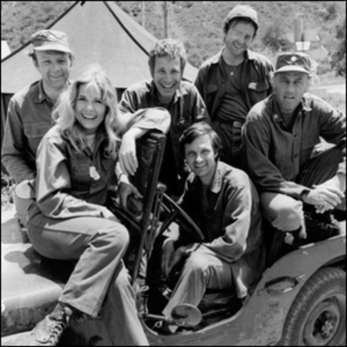 A publicity photo of the cast of M*A*S*H taken just prior to the production of Season 2.