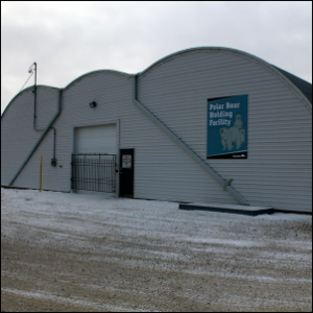 The town of Churchill's polar bear jail in 2011.