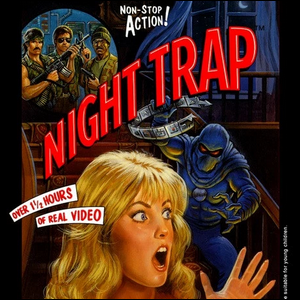 The cover artwork for the video game Night Trap.