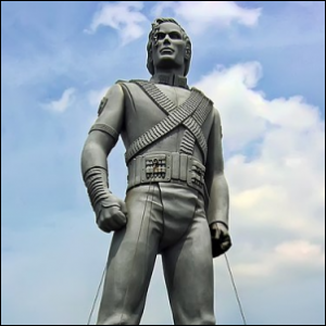 The statue of Michael Jackson that was located in the Netherlands.