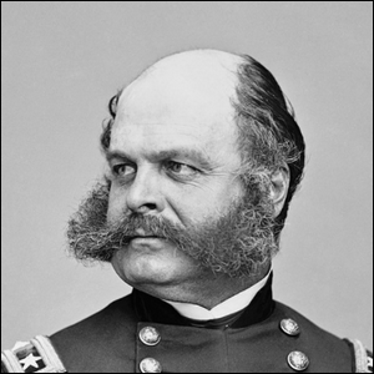 A portrait of Major General Ambrose E. Burnside.