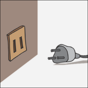 """An example of """"Poka-Yoke"""" for an electrical outlet and a plug in cord."""