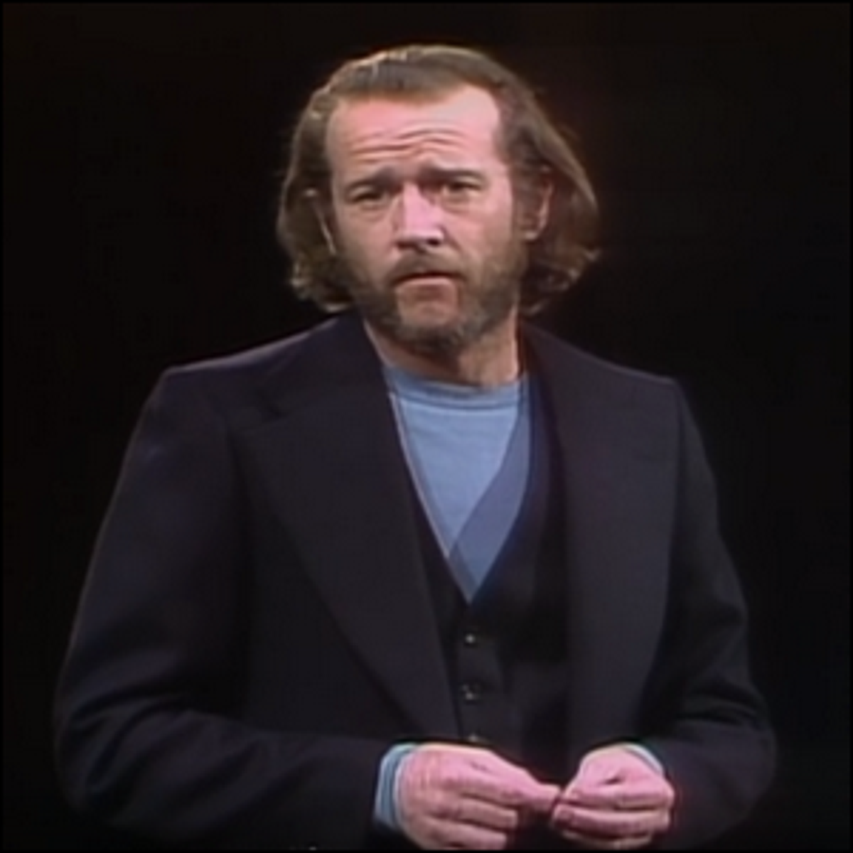 George Carlin on stage during the very first broadcast of Saturday Night Live.