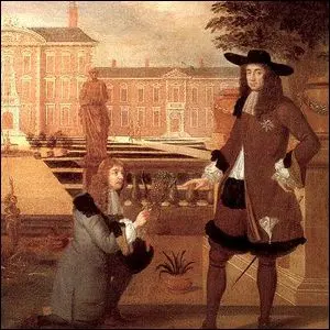 Royal Gardener John Rose presenting the first English produced pineapple to King Charles II.