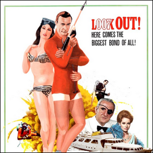 The movie poster for the James Bond movie Thunderball.