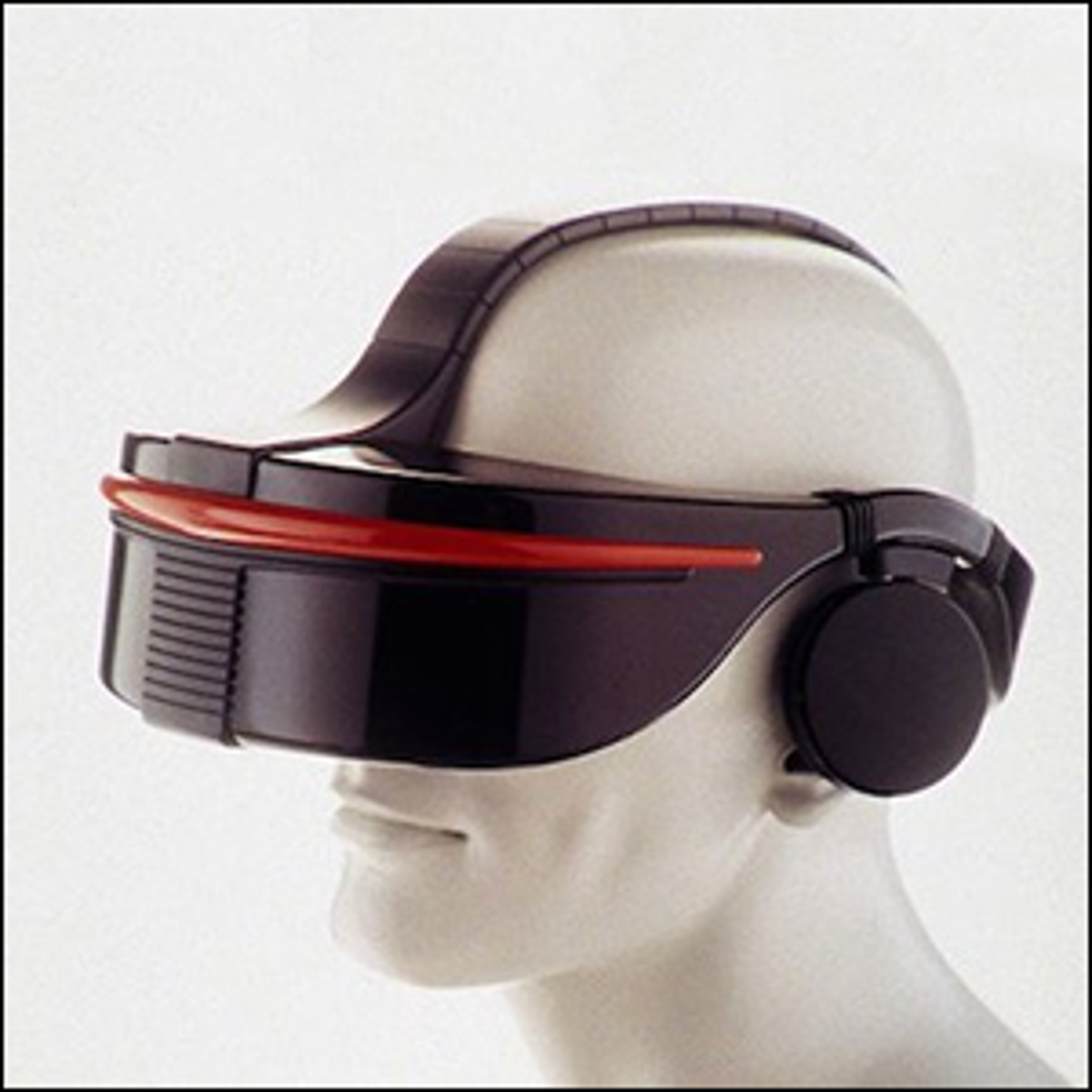 A photo of what the Sega VR headset would look like.