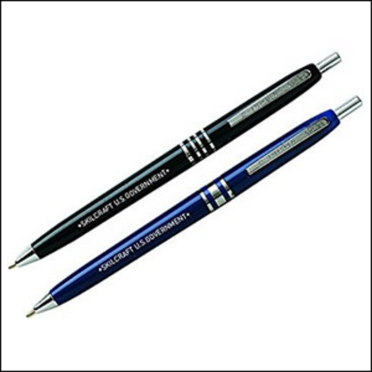 A pair of Skilcraft ink pens.