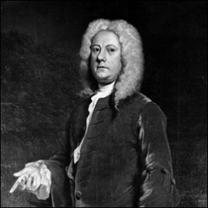 An 18th century portrait of Jethro Tull, British agronomist.