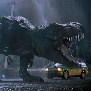 The Tyrannosaurus Rex from the original Jurassic Park movie.