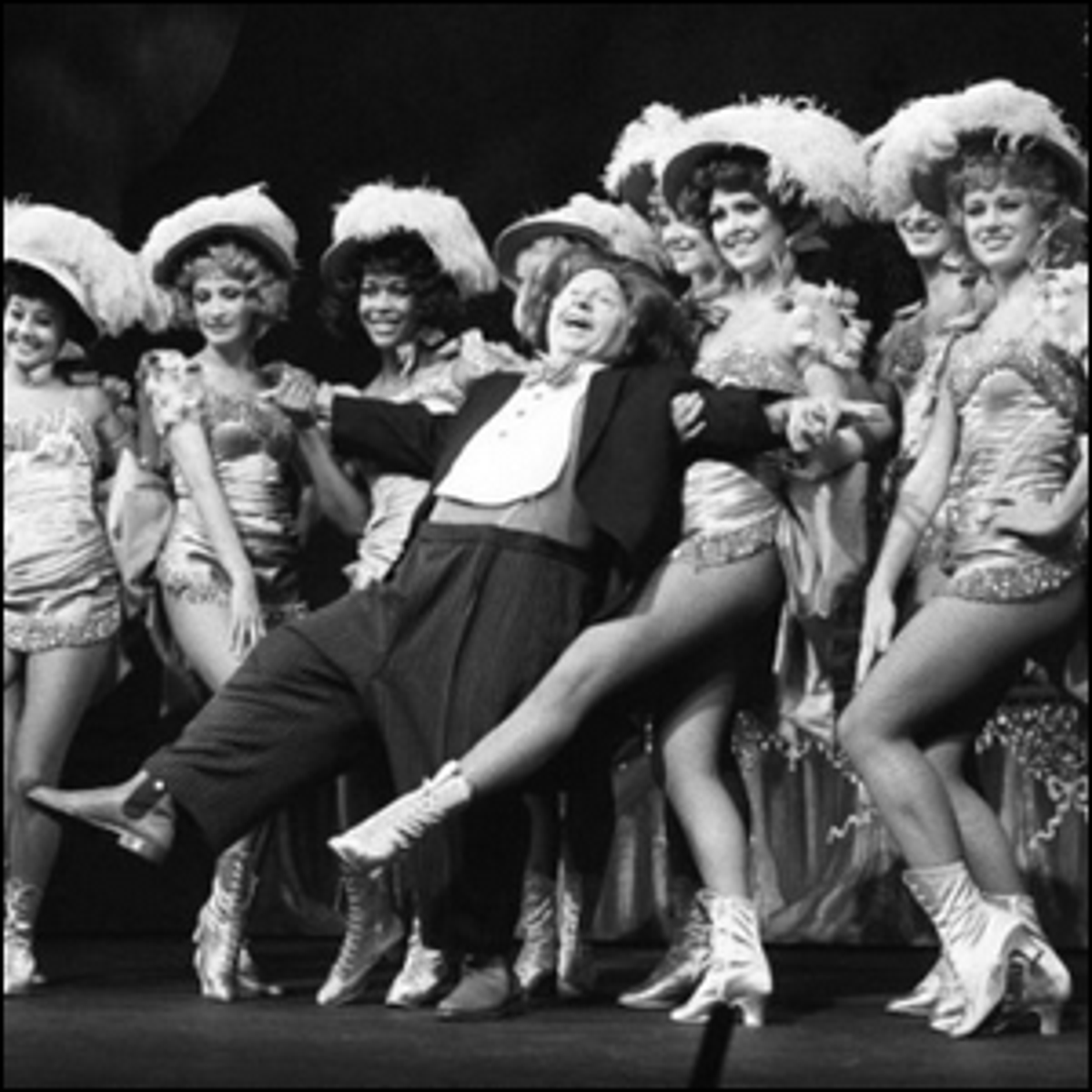 Mickey Rooney performing on Broadway.