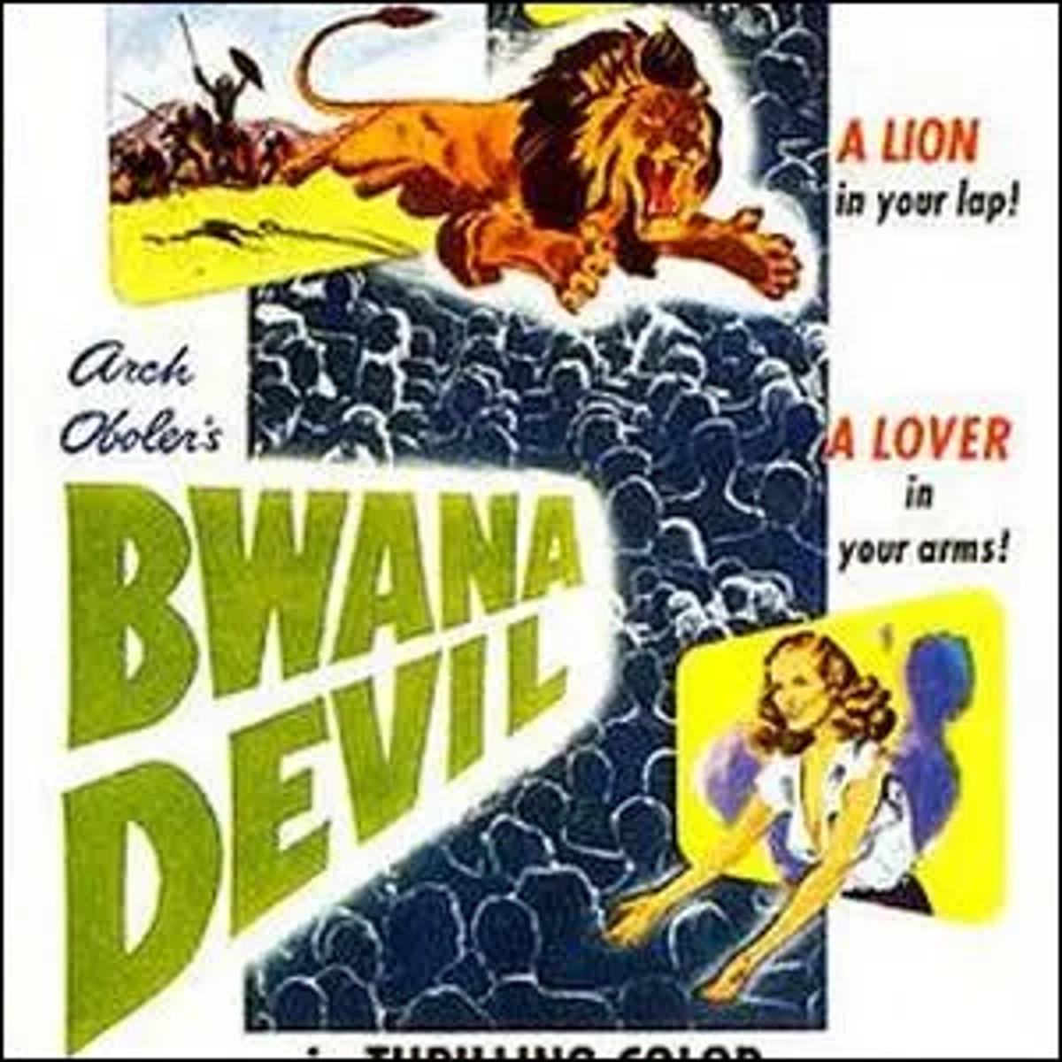 The movie poster for Bwana Devil.