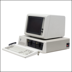An early model IBM Personal Computer.