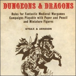 The cover artwork for the 1974 release of Dungeons & Dragons.