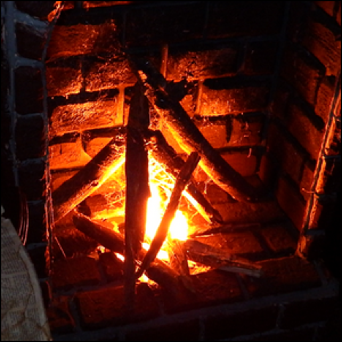 A fireplace at Granby Manor.