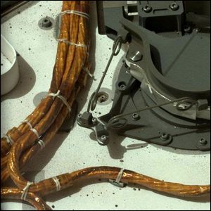 Cable lacing on the Mars Curiosity Rover.