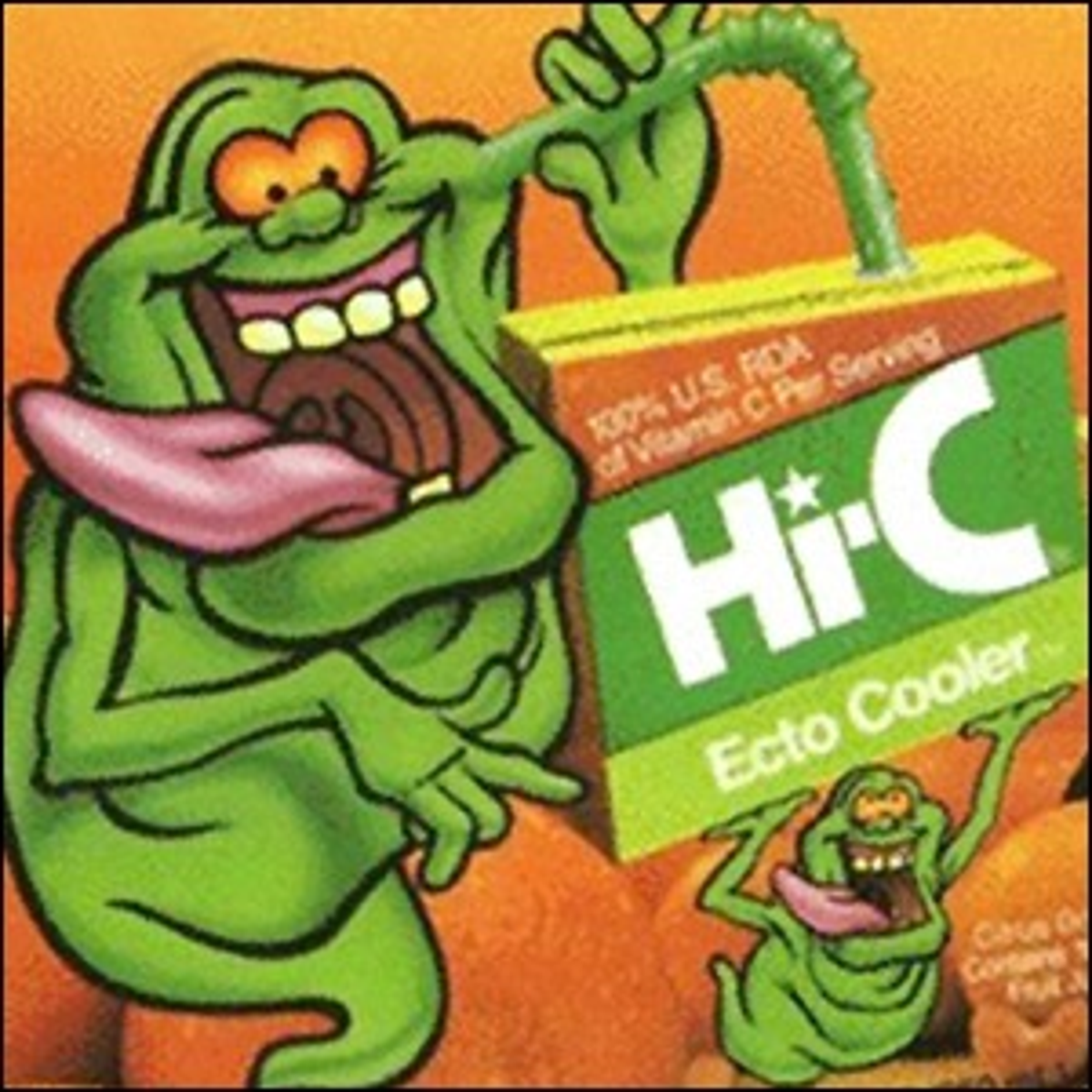 The front cover artwork for Hi-C Ecto Cooler drinks.
