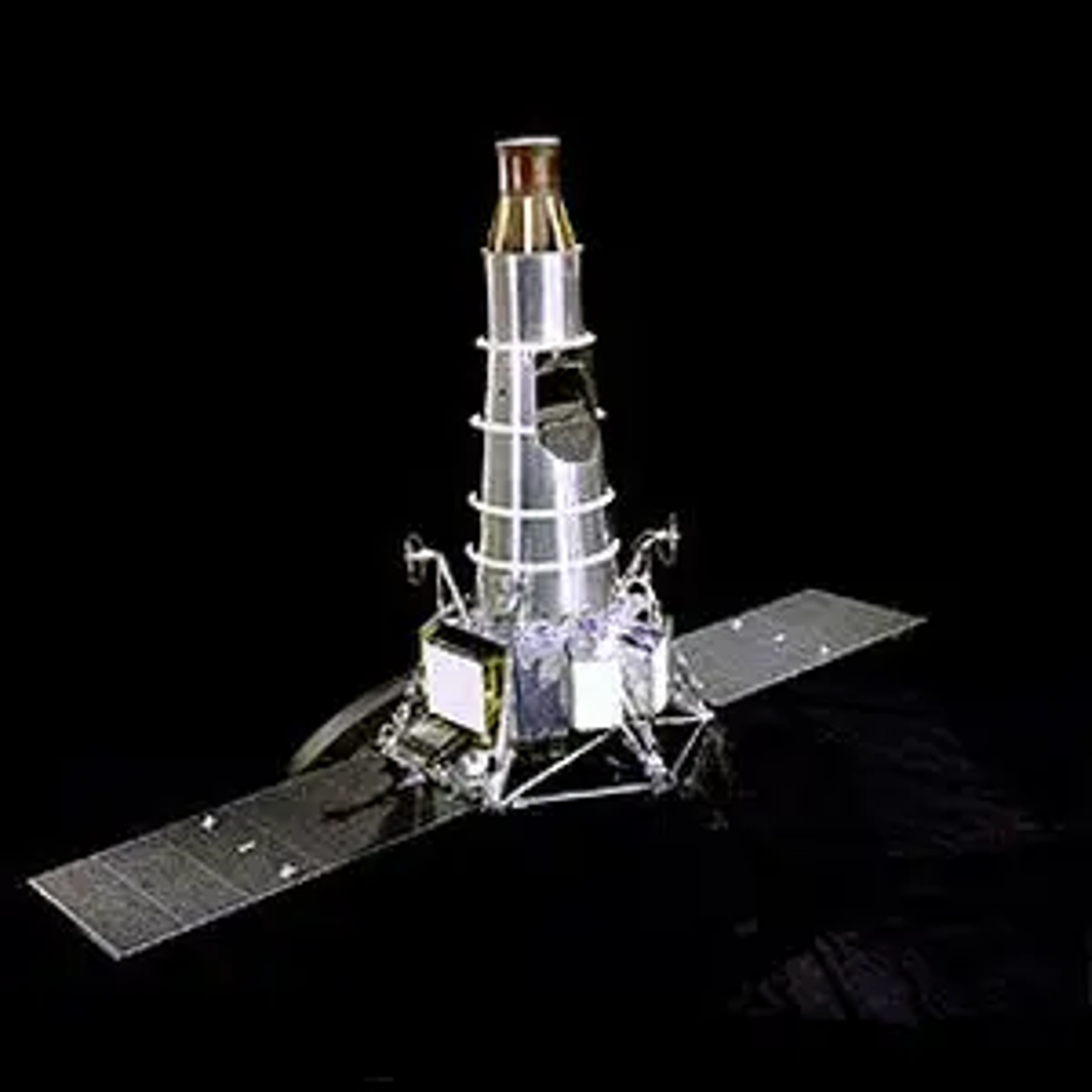 A photo of what the Ranger fleet of spacecraft looked like.