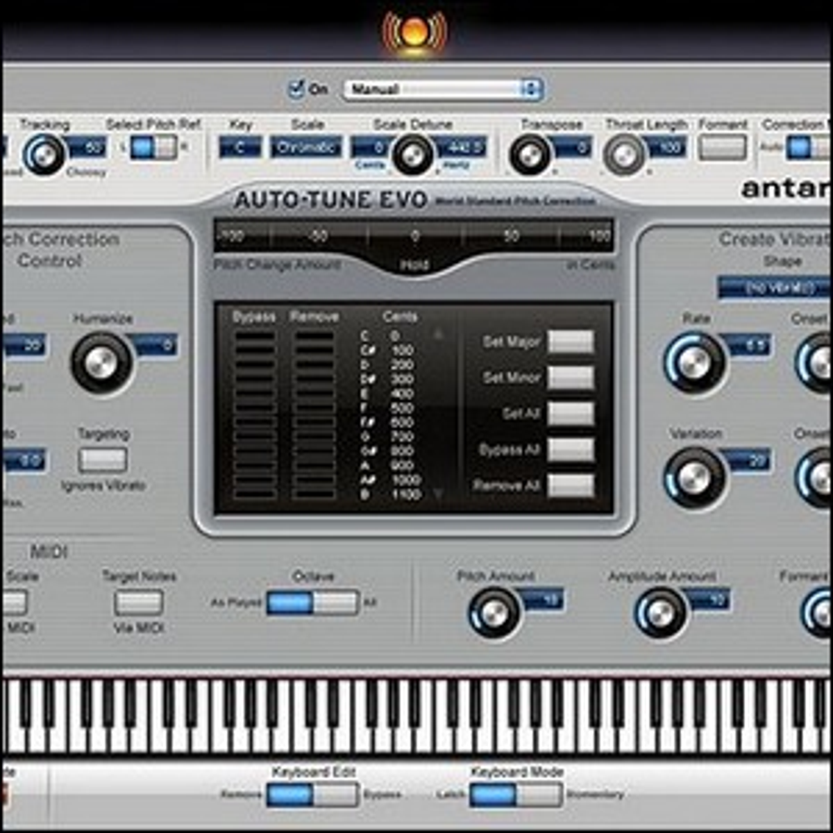 An auto-tune interface.