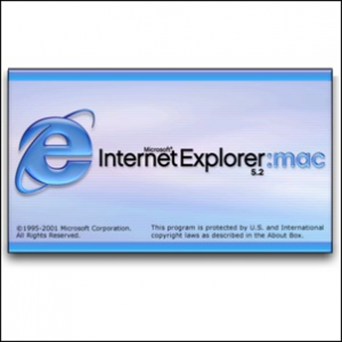 The splash screen for Internet Explorer:mac 5.2.