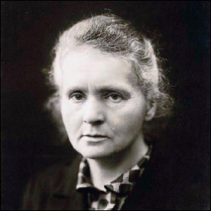A 1920 photo of Marie Curie.