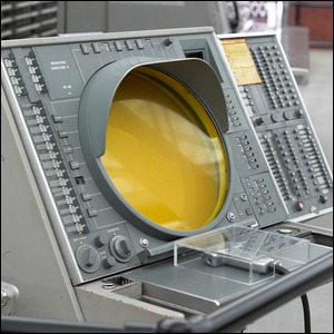 A SAGE terminal used during the cold war to analyze radar data in real time to target Soviet bombers.