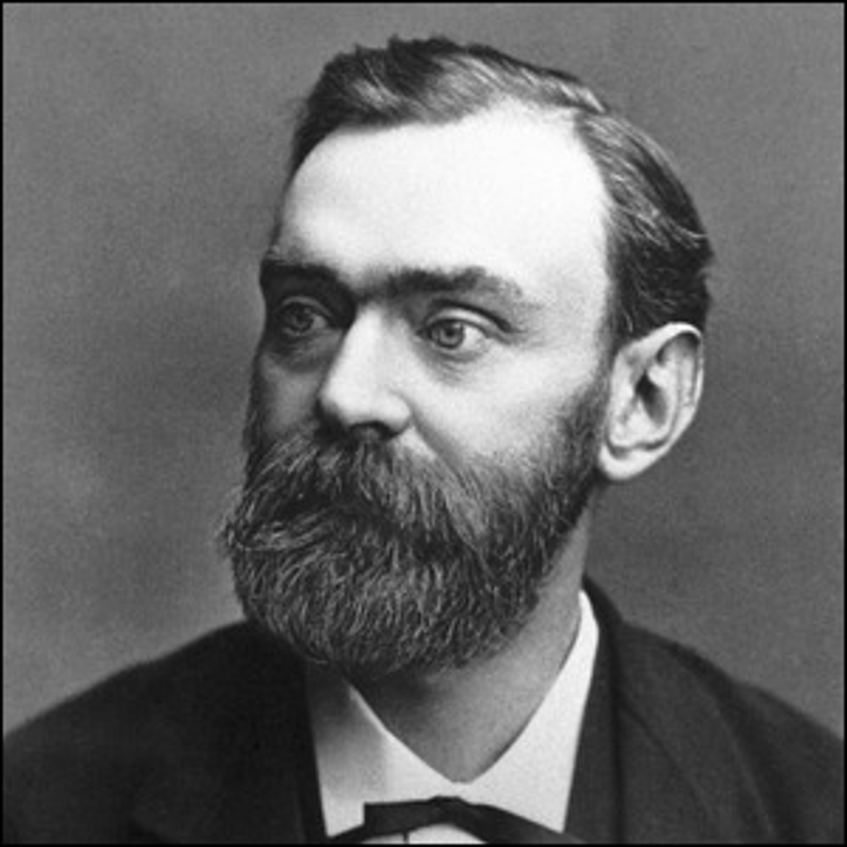 A photo of Alfred Nobel.