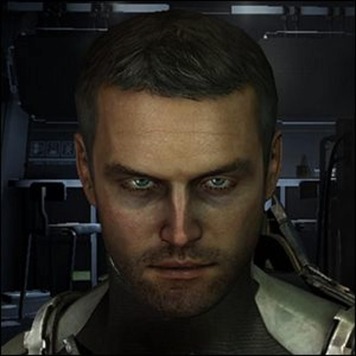 An image of ship systems engineer Isaac Clarke.