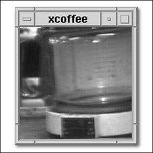 A picture of the Trojan Room coffee pot, displayed in the XCoffee viewer.
