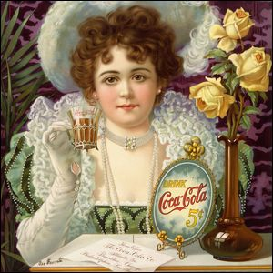 A Victorian-era advertisement for 5 cent Coca-Cola.