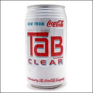 A can of Tab Clear from Coca-Cola.