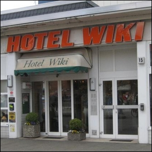 "A photo of the actual ""Hotel Wiki"" in Hamburg-Barmbek-Nord."