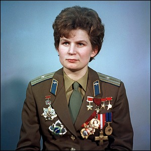 Valentina Tereshkova, pilot-cosmonaut, first female cosmonaut, Hero of the USSR. Pictured as a Major in the Soviet Air Force.