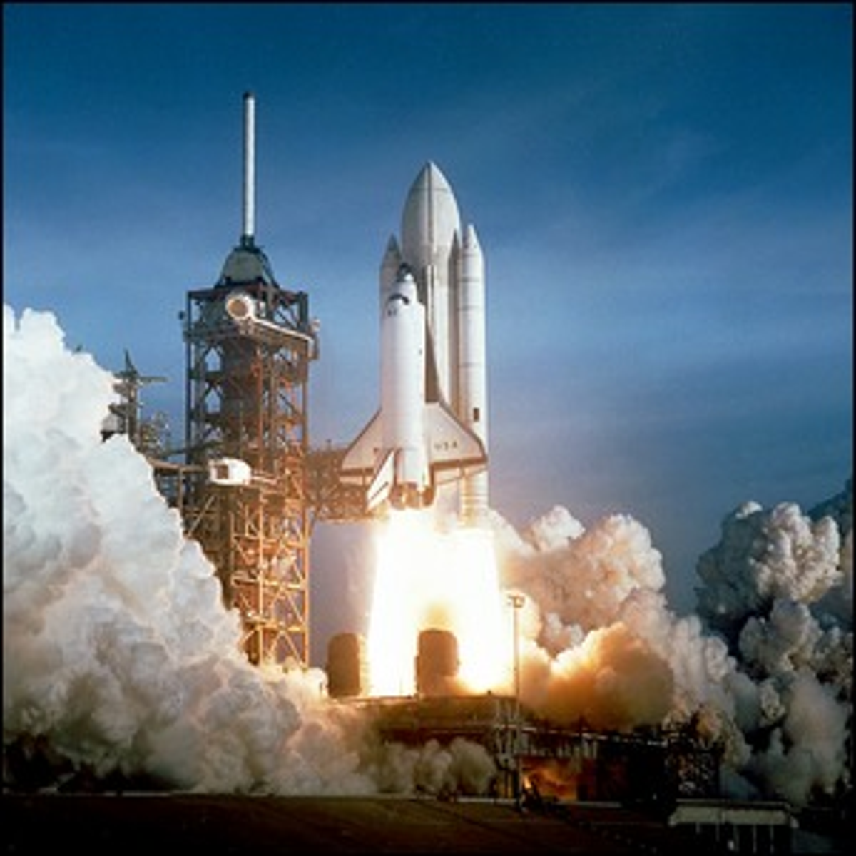 The launch of STS-1 in 1981.