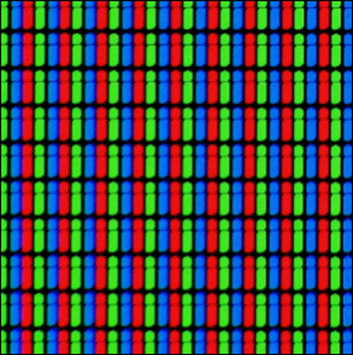 A macro photograph showing the individual pixels on an LCD screen.