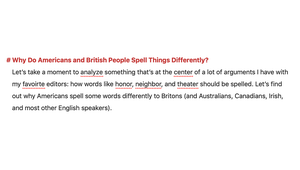 Why Do Americans and British People Spell Things Differently?
