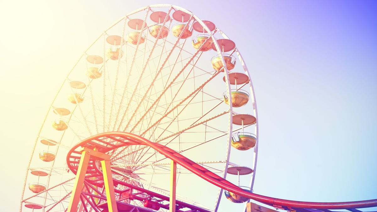 Vintage toned picture of Ferris wheel