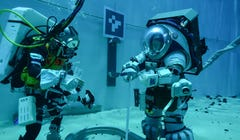NASA Dunks Astronauts to Test Pool and Moon Suit