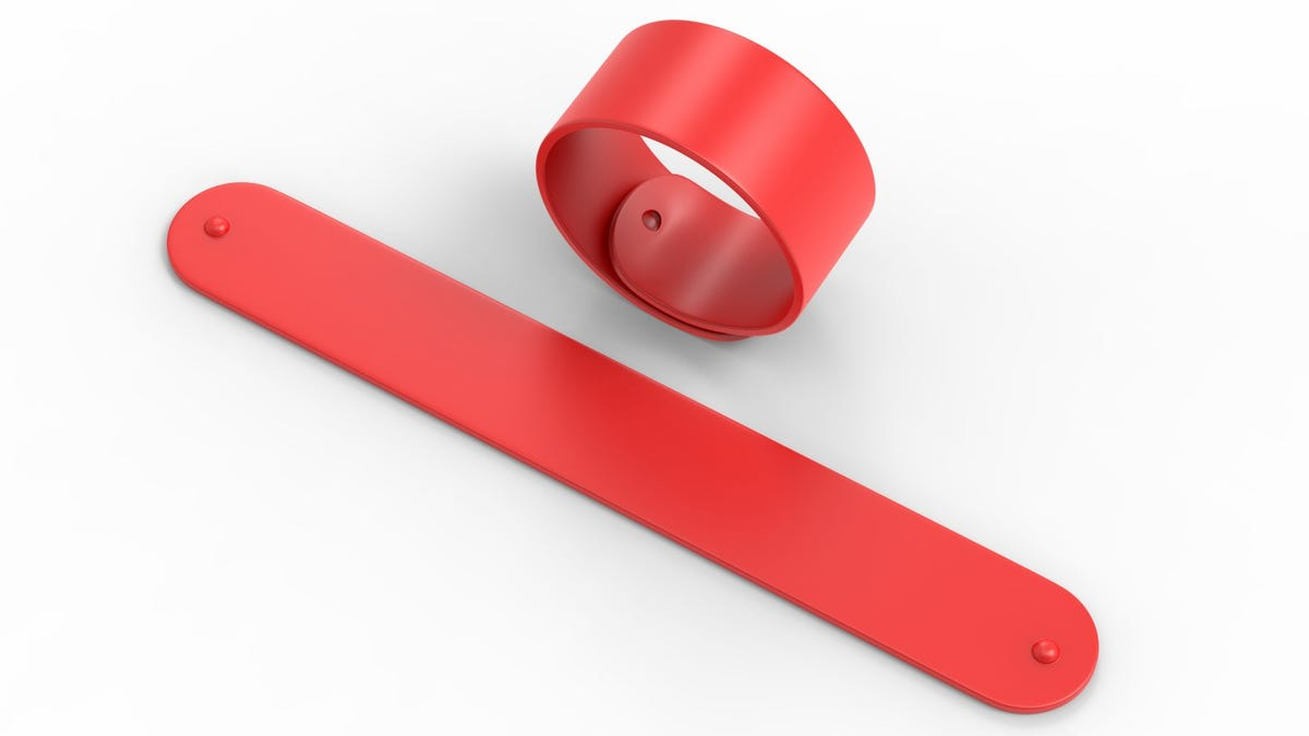 red Silicone Rubber Slap Bracelet