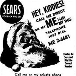 A 1950s-era Sears ad urging kids to call Santa.