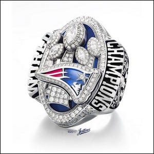 The New England Patriots 2017 Super Bowl Ring.