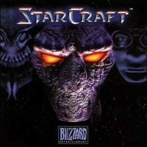 The front cover of StarCraft.