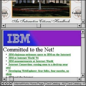An example of the first tabbed web browser's interface.
