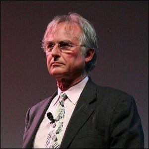 Richard Dawkins at a public presentation at the University of Texas at Austin.
