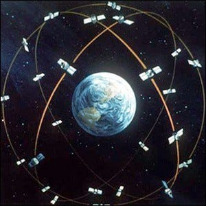 Concept artwork for the GPS system from the U.S. Department of Defense.