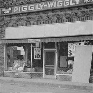 One of the early Piggly Wiggly grocery store locations.